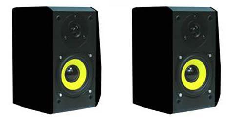 PROFI SET Hifi Regal Box Leder Lautsprecher Bass Surroundbox 50w Paar 2 Boxen