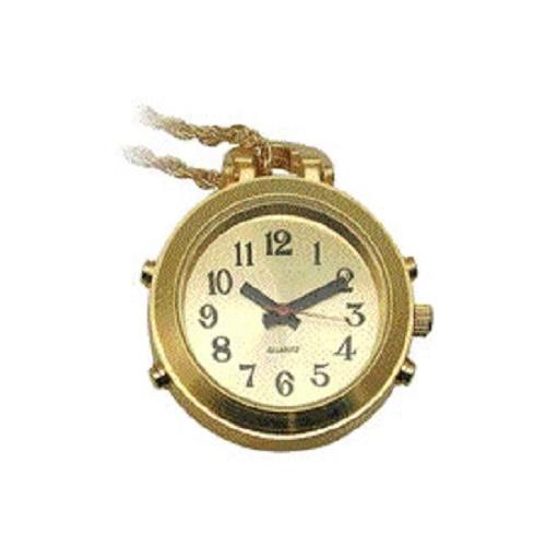 Sprechende Umhängeuhr mit Kette Uhr zum umhängen Zeitansage als Halskette gold