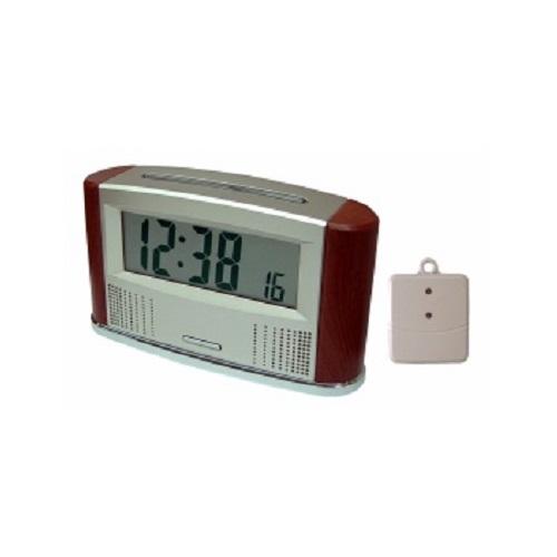 Sprechende Funkuhr Wecker Uhr mit kabellosem Innen- & Außen- Thermometer