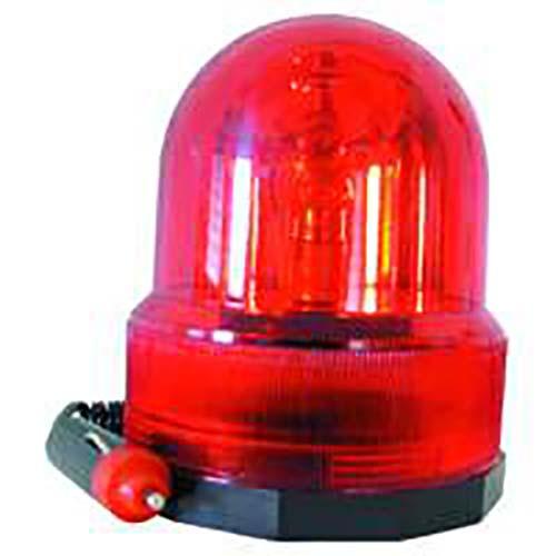 ROT Rundumleuchte Rotlicht 12V Stecker Auto Kfz Pkw Magnet Magnetfuß Polizei