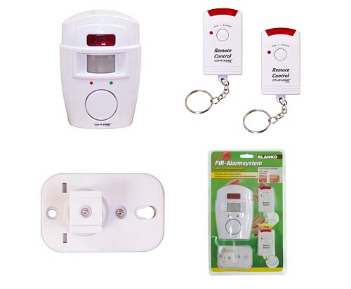 PROFI Alarmanlage Alarm mit PIR Bewegungsmelder Sensor Fernebdienung kabellos