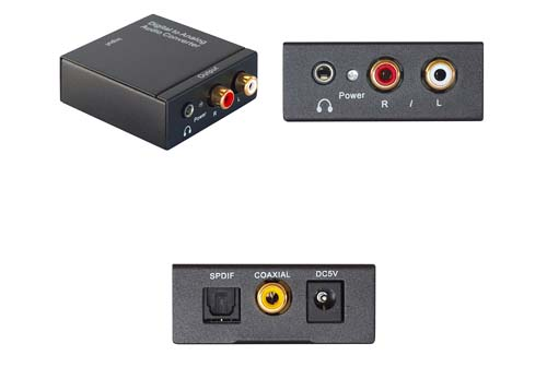 PROFI DAC Digital in Analog Wandler Converter TV Audio Audiosignal umwandeln