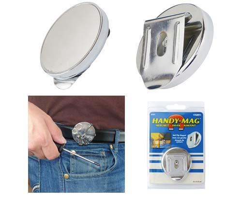 PROFI Gürtelklip mit Magnet Magnetischer Gürtel Werkzeughalter Schraubenhalter