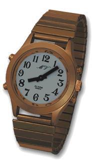 DAMEN Armbanduhr Ansage Datum Uhrzeit Wecker Uhr Damenuhr Sehschwäche Metall Gol