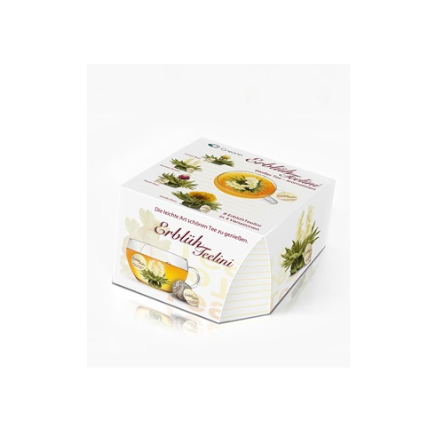 LUXUS ErblühTeelini 8 Stk Weißer Tee Aufblühender Genißer Teebeutel Geschenk