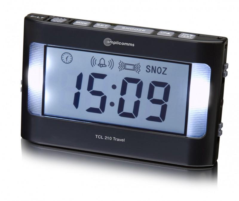 PRO lauter Reisewecker mit Vibration vibrierender Wecker LICHTBLITZE Uhr Digital