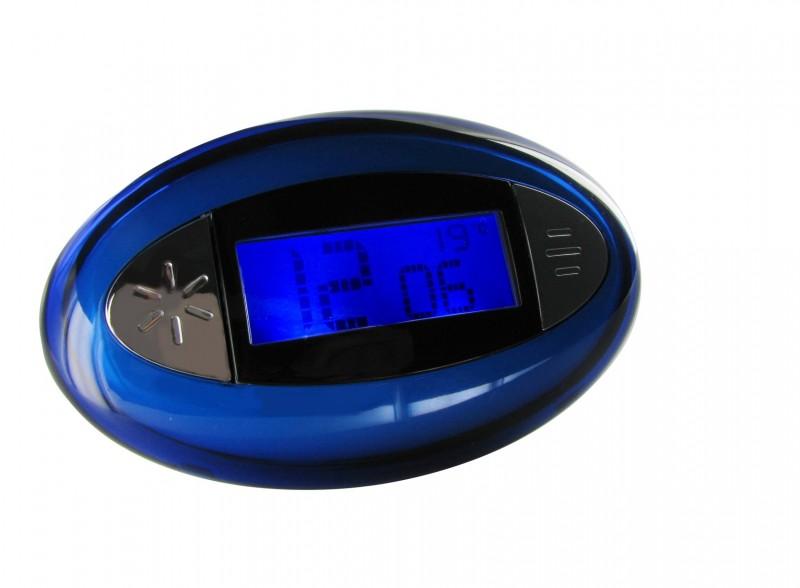 Sprechender Wecker Uhrzeit Sprachausgabe Beleuchtung blau Temperatur Thermometer